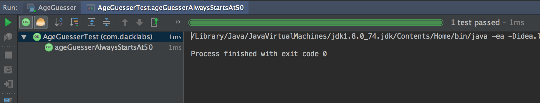 Intellij Test Passed